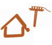 logo maison poteau